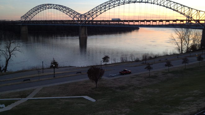 Caption: New Albany's current riverfront features a boat ramp, an amphitheater, playground areas and paths that connect to the Ohio River Greenway, a pedway under construction between Jeffersonville and New Albany. File photo