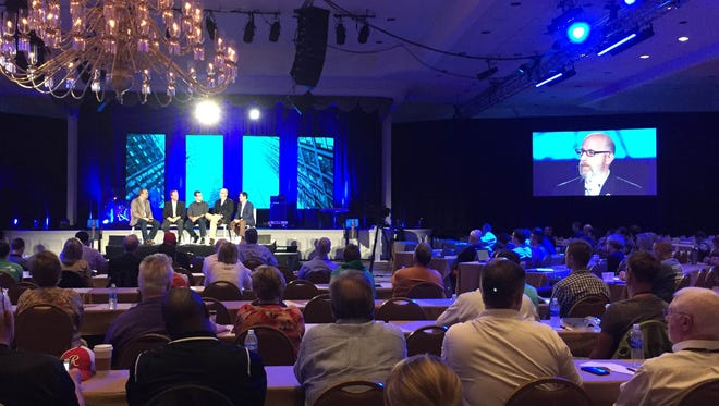Conservative commentator David French speaks on a panel about 2016 and the future of evangelical politics. The panel took place Saturday in Nashville at the Ethics and Religious Liberty Commission's post conference.