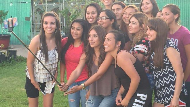 Cobre High cheerleaders include, Front row, from left, are Aimee Ryan, Vanessa Baca,Chambrae Dominguez, and Dezirae Torres. Middle row, from left, are Angel Holguin, Veronica Avalos, Maria Montoya, and Olivia Montoya. Back row, from left, are Jocelyn Pena, Alyssa Trujillo, Bianca Martinez, Daquiri Dalton Torres, Kyeasha Rivera, and Kassandra Sedillos. Not pictured are Renatta Garcia, Bobbie Olivas, and Alyssa Rivera.