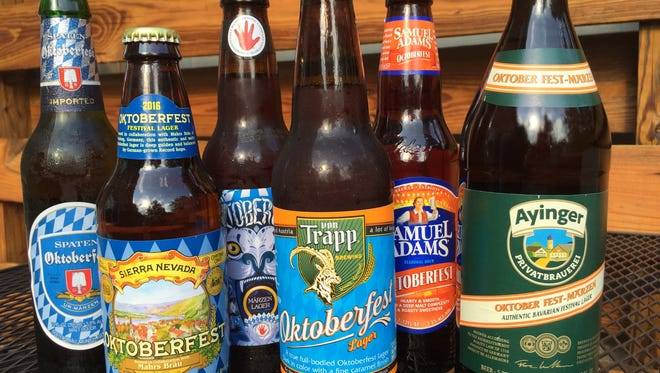 A selection of Oktoberfest beers available in Vermont.