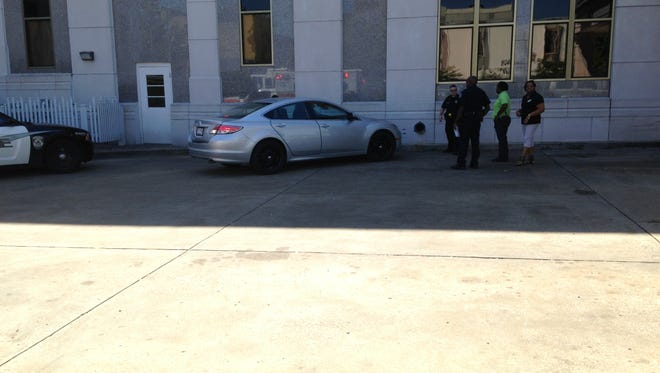 A driver with a medical condition hit the side of the Regions Bank at Jackson City Hall this morning, according to police.