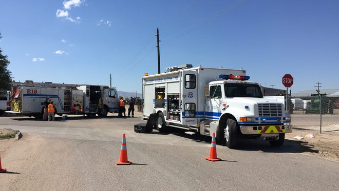Four workers with Exodus Moving and Storage discovered vials labeled as arsenic and mercury as they were unpacking a 13-year-old, previously unopened storage trailer Thursday afternoon.