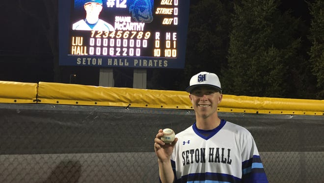 Shane McCarthy after his perfect game last spring.