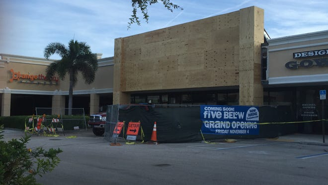 Work on the Stuart Five Below has begun in the Stuart Centre shopping plaza.