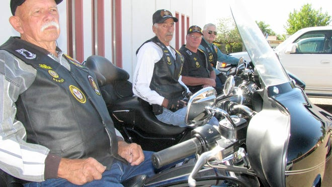 "From left are American Legion Riders, New Mexico Chapter 12, Bob Speer, President James ""Smiley"" Morris, Boyd McIlhatton and Steve Rieffer, chaplain and vice-president. The Riders invite the biker community to participate in the Forgotten Veterans Bike Run at 10 a.m. on Saturday, Sept. 23.at the American Legion Bataan Post 4 Home, 619 W. Spruce St."