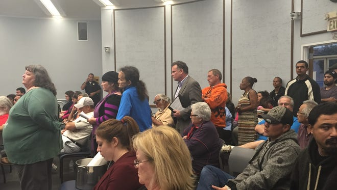 Crowds packed Tuesday night's meeting as City Council voted on a controversial ordinance.