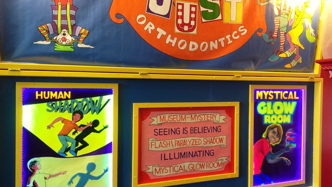A new circus-themed exhibit at the Above and Beyond Children's Museum in Sheboygan will debut Saturday evening and includes a Glow Room — essentially a large Light Bright — and a shadow room.