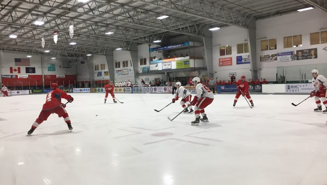The Detroit Red Wings begin preseason camp Sept. 23, 2016, at Centre Ice Arena in Traverse City.