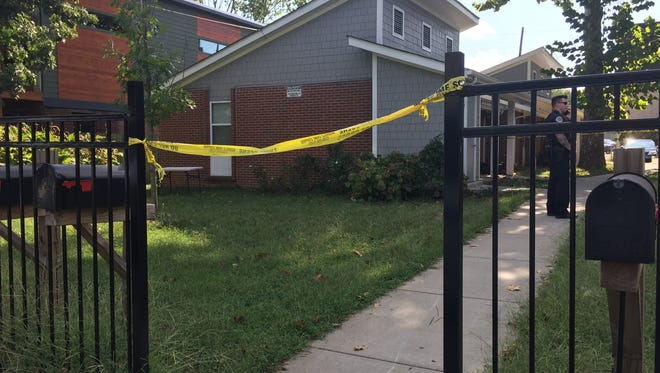 Scene of a shooting at a home south of downtown Nashville.  Friday, September 23, 2016