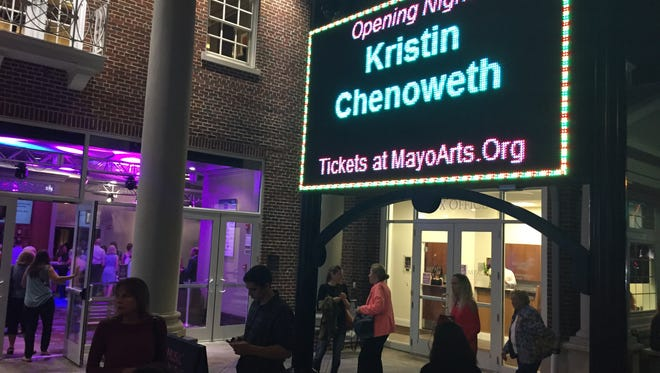 Patrons at the Mayo Performing Arts Center in Morristown prior to a performance by Kristin Chenoweth. Sept. 24, 2016