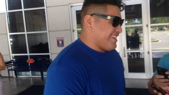 3-star OL prospect Jordan Agasiva from Prima Community College in Tuscon, Arizona after his official visit to Auburn Sunday.