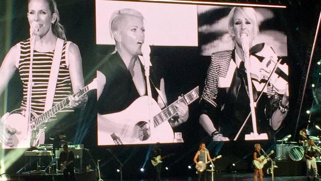 The Dixie Chicks, on their first tour in a decade, played the Resch Center for the first time on Saturday night.