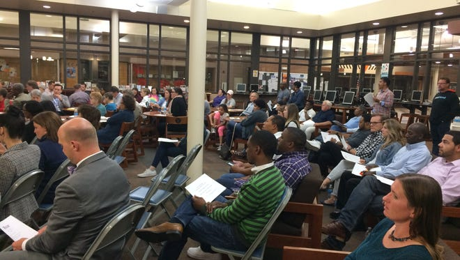 About 150 parents and students met Tuesday, Sept. 27, 2016, to discuss the results of an equity audit that found deep racial disparities at Valley High School.