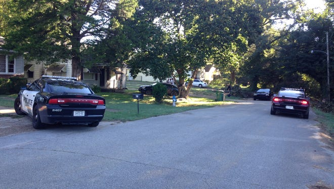 Jackson police investigate shots fired on East Lafayette Street on Tuesday morning.