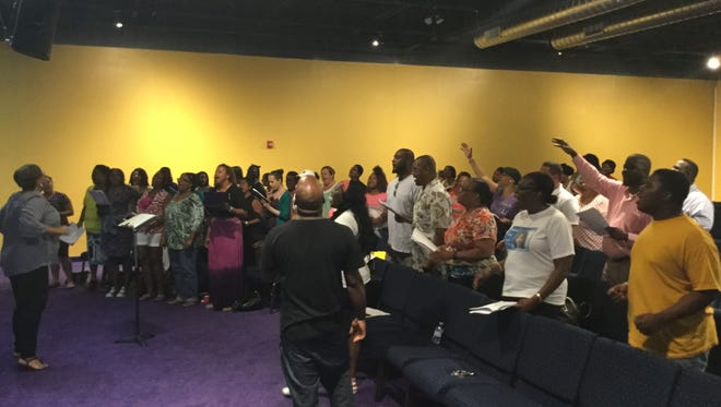 Church-goers rehearse for Jersey Shore Worship set for Oct. 1.