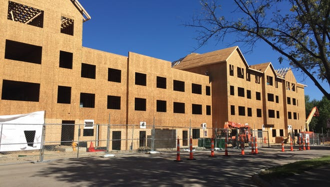 Construction on a four-story addition to Touchmark at All Saints is ahead of schedule.