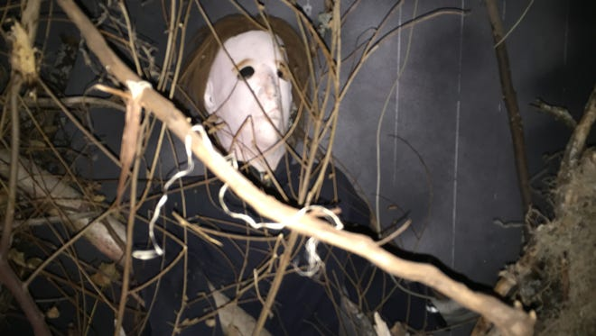 """The character Michael Myers, from the """"Halloween"""" movies, lurks in the Haunted Halls of Horror, operated by the Southern Tier Independence Center in Binghamton."""