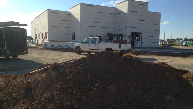 Work continues on a new Los Portales at 1461 Union University Drive.