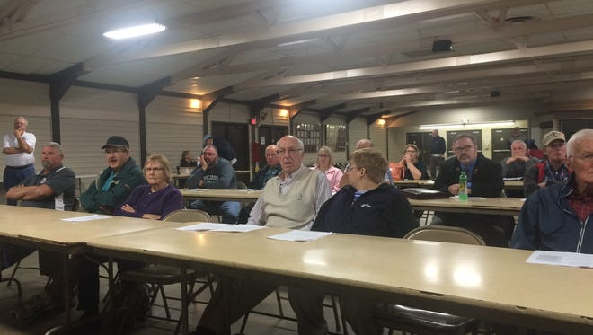 County residents attend the Turnout for Transportation event held at the Manitowoc County Expo Thursday.