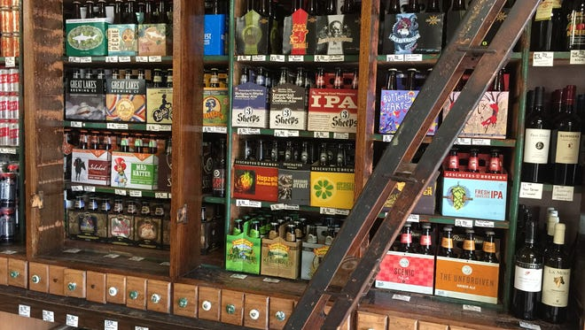 Bumstead Provisions serves beer on one side; sells it on the other.