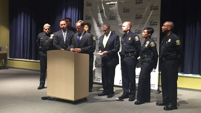 Michigan Attorney General Bill Schuette and Detroit Police Chief James Craig announced the charges Wednesday morning.
