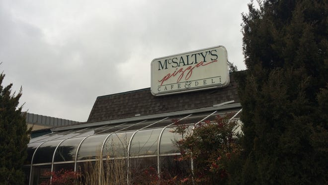 A February 24, 2016 photograph of the McSalty's Pizza property at 2627 E. Sunshine St., soon after it was put up for sale. On Oct. 5, 2016, former Ebbets Field owner Lance Reeves announced he had bought the property and planned to put in a new business.
