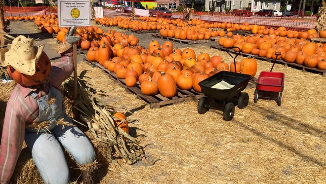 The 10th annual Holy Cross Pumpkin Patch is open through Oct. 31 in downtown Simpsonville.