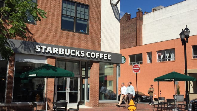 A new Starbucks on the 600 block of Market Street is the third location in Wilmington. Two others opened in 2014.
