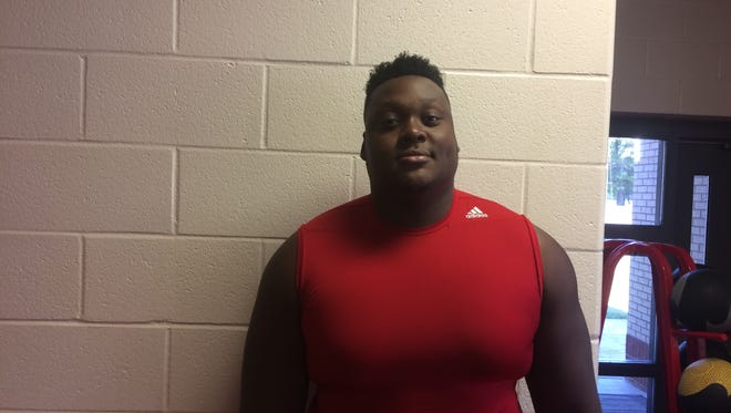 Haughton left tackle Josh Cooper stands out on the Bucs' offensive line.