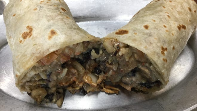 The chicken burrito is the most popular menu item at Pancheros Mexican Grill.