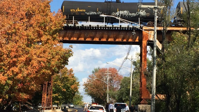 The Knoxville Police Department is investigating the discovery Wednesday, Oct. 19, 2016, of a woman's body underneath a railroad trestle on Neyland Drive.