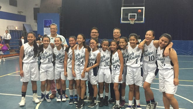 The St. Anthony's School Lady Raiders won their second straight Independent Interscholastic Athletic Association of Guam Middle School Girls Basketball League championship, beating the Andersen Middle School Dragons 53-13  on Thursday.