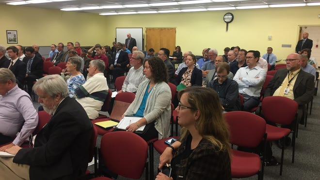A public hearing on the state of New Jersey's drought was held at the Millburn Public Library on Thursday, Oct. 20.