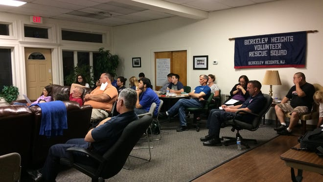 Members of the Berkeley Heights Volunteer Rescue Squad attend stress management training designed to help them better help their patients and better care for themselves.