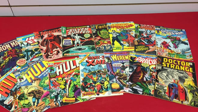 A sample of key comic books purchased by Rupp's Comics including books featuring the first appearance of Marvel legends Wolverine, Silver Surfer and Blade.