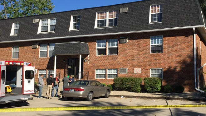Trayon Turner, 21, was shot to death Oct. 8 in this apartment building in the 1700 block of North Glenwood Avenue, allegedly as he and his 21-year-old cousin, Delon Owens, tried to rob a resident there. Prosecutors are considering filing a murder charge against Owens in his cousin's death.