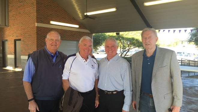 From left, Deacon Lewis, Gary Pittman, David Centanni and Shelley Dickie were part of Northwestern State's 1966 undefated football team whose college memories were partially forged by the Vietnam War, giving them a deep sense of respect for the U.S. military.