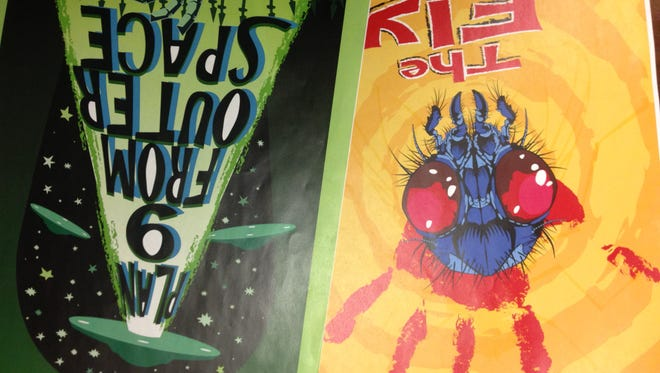 """The Fly"" and ""Plan 9 From Outer Space"" will show at Tibbits Opera House in Coldwater Saturday. These posters were created by Matt Biolchini for the event."