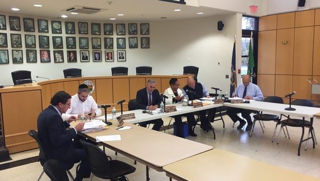 The Ramapo Town Board and other officials at a morning meeting on Thursday, Oct. 27, 2016.