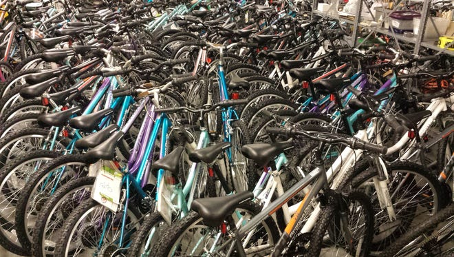 These bikes are just waiting for an owner this Christmas, after being donated to City Gospel Mission.