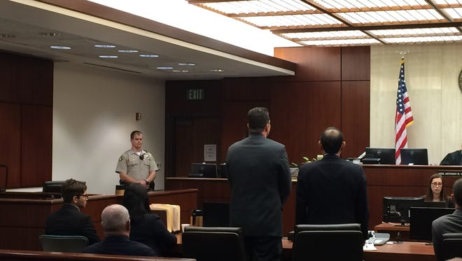 Wade Wheeler stands in court. He was convicted of vehicular manslaughter, street racing and reckless driving.