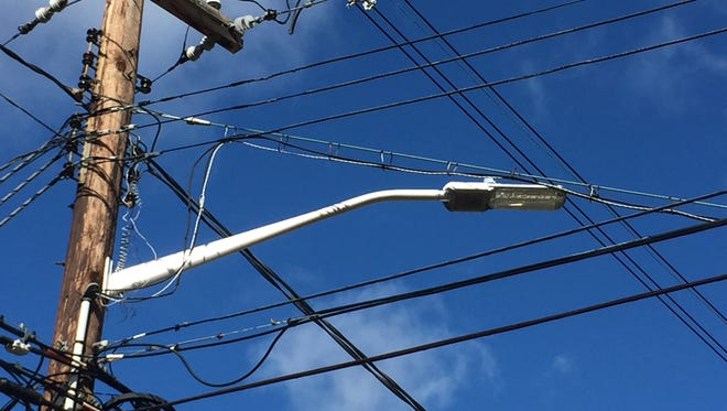 Pictured here, a modern LED streetlight the corner of Maple and Demarest avenues in Clarkstown from October 2016.