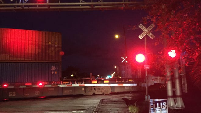 A pedestrian was struck and killed by a train near the Post Road crossing in Melbourne early Tuesday.