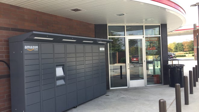Amazon lockers stationed outside of QuikTrip on N. Pleasantburg Drive in Greenville. November 1, 2016