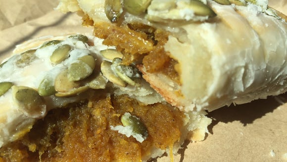 The Spice Girl hand pie from Acadian Slice is filled