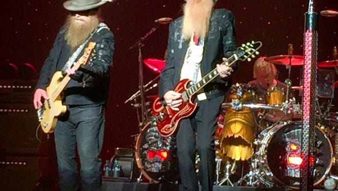 Dusty Hill and Billy Gibbons of ZZ Top perform Nov. 2, 2016, at Artis--Naples.