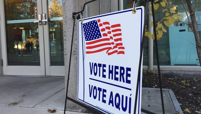 The Washoe County administration building is an early voting site, as seen Nov. 3, 2016.