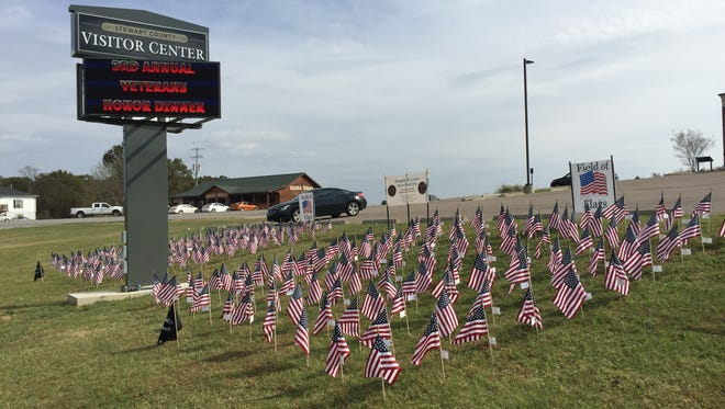 More than 200 American flags compose the 'Field of Flags' that honor veterans.