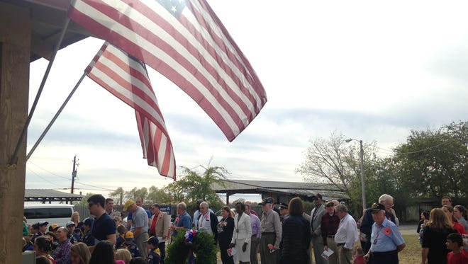Pike Road holds a Veterans Day Ceremony at the Veterans Memorial Park on Sunday.