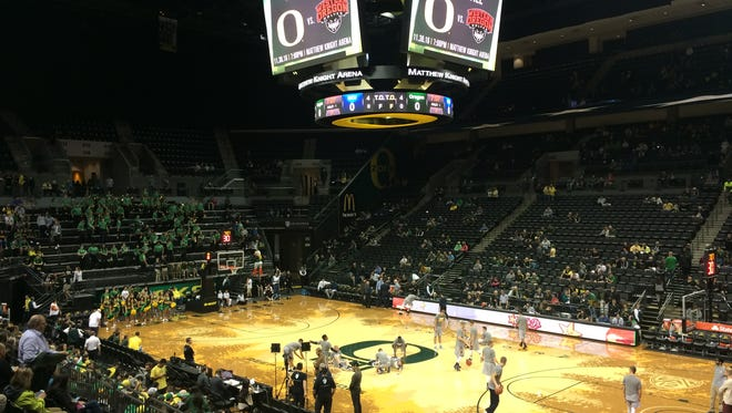 Oregon men's basketball opens the season with an exhibition game Monday against Northwest Christian.